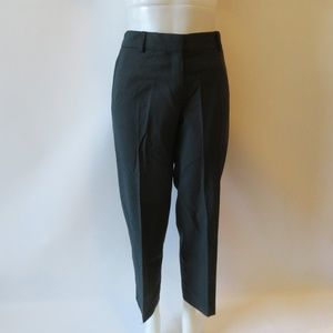 THEORY BLACK FLAT FRONT TROUSER PANTS  SIZE 12